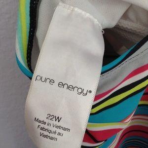 Pure Energy Swim - Pure energy Target 22W striped tankini top